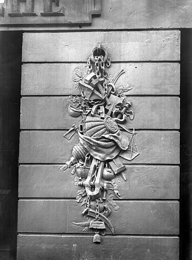 Maison de Clodion Façade sur rue : Pile droite du rez-de-chaussée, Durand, Jean-Eugène (photographe),