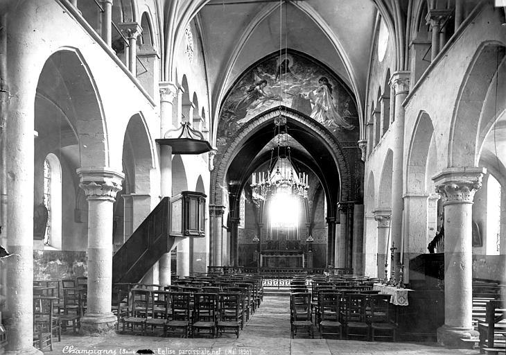 Eglise Saint-Saturnin Vue intérieure de la nef vers le choeur, Mieusement, Médéric (photographe),