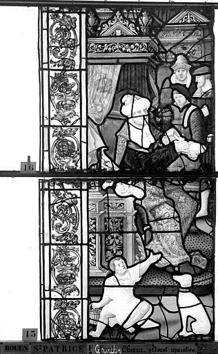 Eglise Saint-Patrice Vitrail, fenêtre gauche, septième panneau, Heuzé, Henri (photographe),